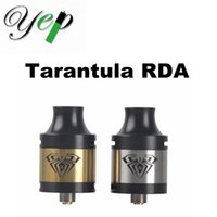Wholesale Tarantula Wholesalers - Origina Yep Tarantula RDA Atomizer 23mm Outside Diameter 510 Thread Rebuildable Dripping Atomizer Metal Silver Gold Color