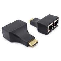 Wholesale Hdmi Network Extender - Full HD 1080P 3D HDMI Extender Dual RJ45 by Cat5e Cat6 Cables 30meters Network Cable For HDTV HDPC STB