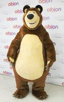 Wholesale Brown Grizzly Bear Costume - 2016 High Quality Masha Bear Ursa Grizzly Mascot Costume Cartoon Character Free Shipping