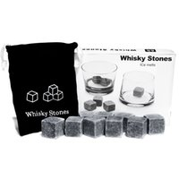 Wholesale Hot Selling NEW Whisky Ice Cube Stones Soapstone Rocks Drinks Beer Cooler Great Gift With Velvet Bag