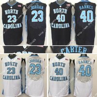 Wholesale 23 Sweatshirt - Good quality North Carolina Tar Heels College #15 Vince Carter #23 Michael #40 Harrison Barnes Embroidery Logos Stitched Jerseys Sweatshirts