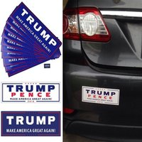 Wholesale Vehicle Window Stickers - DONALD TRUMP PENCE Bumper vinyl vehicle Stickers -MAKE AMERICA GREAT AGAIN!
