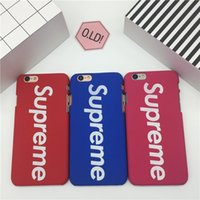 Wholesale Iphone Cover Colours Leather - 5 Candy colours Hard frosting PC cell phone cases For iphone 6S 7 plus cases fashion hot sale ultra thin back cover shockproof shell 2017