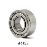 Wholesale 4mm Steel Ball - Wholesale- 10pcs 5*13*4mm Deep Groove Ball Bearing 695ZZ Bearing Steel Sealed Double Shielded Dustproof for Instrument Electrical