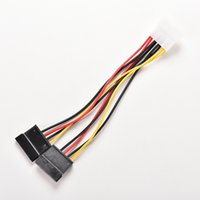 Wholesale 15 serial - Wholesale- 1pcs Serial ATA SATA 4 Pin IDE to 2 of 15 Pin HDD Power Adapter Cable Hot Worldwide