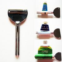 Wholesale Dye Hair Paint - Wholesale-2 pcs High Quality Tooth Paste Oil Paint Hair Color Dye Cosmetics Tube Wringer Squeeze Roller Metal