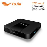 Wholesale android player tv for sale - 14pcs TX3 mini Android TV BOX GB GB Amlogic S905W Quad Core Suppot H K tps Media Player IPTV Box