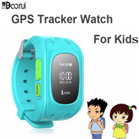 Wholesale- Boorui relojes Q5 GPS Tracker Smart Kid Watch Anti-lost smartWatch pour Android / iOS et Kids SOS Emergency with Smartphone App