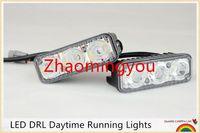 Wholesale Work Light Fog - Universal 2Pcs Set LED DRL Daytime Running Lights Work Lamps Car Styling Light Source Waterproof Fog Parking Lamp For 4X4 SUV