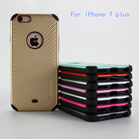 Wholesale Iphone Knit Weave - For iPhone 7 plus For Samsung galaxy J7 2015 Fashion Woven Pattern Knit Lines Hybrid Armor Case two in one cover Anti-fall shockproof