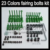 Wholesale Honda Vfr Fairing Kit - Fairing bolts full screw kit For HONDA VFR400RR NC24 VFR400 RR VFR 400RR RVF 400 RR 87 88 1987 1988 Body Nuts screws nut bolt kit 13Colors