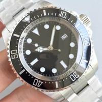 Wholesale Eta Ceramic - Super Top Noob Factory V7 Black Dial Mens ETA 2836 Automatic Watch Men Rotating Ceramic Bezel Waterproof Dive Sea 116660 Waterproof Watches