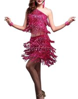 Wholesale Two Piece Halloween Costumes Women - 1920s Gatsby Inspired Style Prom Party Outfits Dresses Attire Costumes Rivet Sequin Tassel Two Piece 1920's Gatsby Style Party