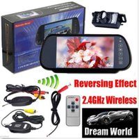 "Wholesale Truck Reverse Camera Wireless - Wireless Car Bus Truck Rear View Kit 7"" LCD Mirror Monitor + IR Reversing Camera"