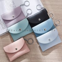 Wholesale Korea Bags Wholesalers - 2017 Japan and South Korea popular key chain multi-function card bag candy color small wallet wholesale DHL free shipping
