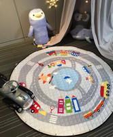 Wholesale Children Picnic Bag - Baby Play Mat Cotton Little Horse Toy Storage Bag Circular Children Climb Mat Picnic Toys New Kids Portable