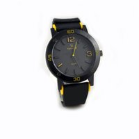 Wholesale V6 Watches Wholesale - V6 Watches Super Speed Watch Large Digital Sports Silicone Watchband Stainless Steel Back Round Shape Dial Fashion Simple Wristwatches