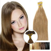 Wholesale light brown fusion hair extensions for sale - Group buy 16 g strand s Light Brown Thick Pre Bonded I Tip Stick Tip Keratin Fusion Double Drawn Remy Human Hair Extensions
