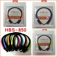 Wholesale Tone Control For Headphones - HBS850 HBS-850 Sport Bluetooth Headphone Wireless Headset Tone Ultra Stereo Earphone Voice Control With Retail Box VS HBS800 HBS900