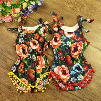 Wholesale floral bubble romper for sale - Group buy Series Styles baby clothes Baby girls Floral Bubble Romper petti romper baby birthday outfit Pom Baby Toddler Romper pc