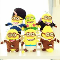 Wholesale Despicable Minion Glasses - Minions 30 45 60cm Despicable Me Stuffed Animals Plush Toys 3D Stereoscopic Glasses October New Arrvial Birthday Gift Free Shipping