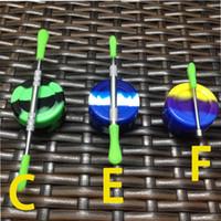 elektronischer vaporizer bong kit großhandel-Wachs nagel für tupfen glas bong elektronische zigarette zubehör + silikon jars + wachs werkzeug sauberes werkzeug trockenen kraut vaporizer stift nagel kits