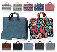 Wholesale Pink Macbook Air Laptops - Bohemian Laptop Bags Sleeve Bag Cover 11.6 13.3 15.6 Inch Macbook Cases Air Document Handbag Pouch with Small Bag Wallet