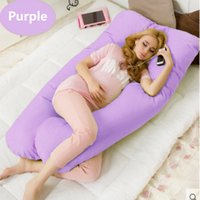 Wholesale U Pillow Pregnancy - 140*80CM U pregnancy comfortable pillows Maternity belt Body Character pregnancy pillow Women pregnant Side Sleepers cushion
