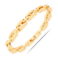 Wholesale 18k Rgp - Wholesale-RGP B357 2016 New Arrival Cuff Gold Bracelet For Women 18K Real Gold Plated High Quality Cute Jewelry Nickel Free Luxury Jewelry