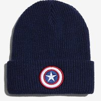 Wholesale Knit Beanie Star - New Fashion Accessories Winter Hats Men and Women's Captain America Beanie Star Cap Warm Knitted Hat