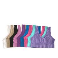 sous-vêtement en forme de corps libre achat en gros de-Top qualité sexy sous-vêtements sans couture dames ahh tailles de soutien-gorge de sport soutien-gorge de yoga en microfibre pull forme de corps 9 couleurs 6 taille livraison gratuite