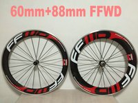 Wholesale 18 Inch Alloy Wheels - ffwd 60mm+ 88mm Alloy Brake Clincher Carbon Wheelset Road Racing Carbon Wheelsets Clincher Bicycle Wheels Wheelset