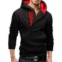 Wholesale Wholesale Mens Casual Clothing - 6 Color Fashion Mens Slim Fleece Fit Sexy Top Designed Hoodies Sweatshirts Men's Clothing L-6XL Free shipping