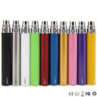 ingrosso la sigaretta migliore dell'ego-eGo T Batteria 650mah 900mah 1100 mah Ego Batterie Sigarette elettroniche 510 Discussione Batteria per CE4 Atomizzatore MT3 Protank H2 MIGLIOR PREZZO