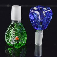 Wholesale Cobra Shape - Cobra Glass Bowls for Bongs Male Bowl 14.4mm and 18mm Joint Thick Heavy Bowl Snake King Head Shape Bowl Unique Design for Bubbler Smoking