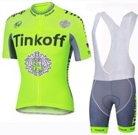 Wholesale Saxo Bank Pink - Hot! Tinkoff saxo bank New Fluo Cycling Jerseys Breathable Bike Clothing Quick-Dry Bicycle Sportwear Ropa Ciclismo GEL Pad Bike Bib Pants