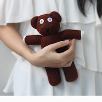 Wholesale Doll Beans - 24CM Mr Bean Teddy Bear Animal Stuffed Plush Toy Brown Figure Doll Cute Small Teddy Bear Soft Grils Toy Kids Gift