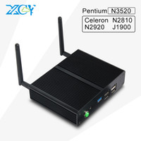 Wholesale Pentium Computers - Wholesale-XCY 2016 new embedded pc thin client micro computer mini pc celeron N2810 N2920 Pentium N3520 with HDMI VGA factory cheap price
