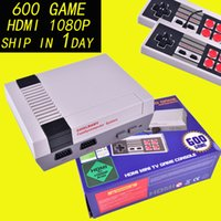 Wholesale Mini Hdmi Video - HD HDMI Out Retro Classic Game TV Video Handheld Game Console Entertainment System Built-in 600 Classic Games for NES mini Game OTH667