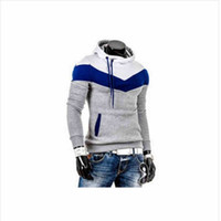 Wholesale Mens Sports Suits Slim - Wholesale-2016 new man hoody casual sweatshirt mens brand sports suit 6color fleece hoodie jackets men's sportswear men hoodie