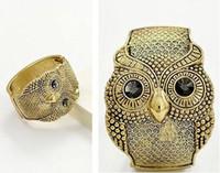 Wholesale Costume Gemstone Bracelets - New Design Vintage Imitation Gemstone Owl Costume Cuff Bracelet Wristband for Women bracelets bangles Jewelry