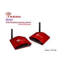 Wholesale 5 G Smart The set top box Wireless Sharing Device Transmitter and Receiver AV Sender With IR Remote Model PAT