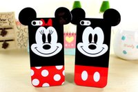 2016 Caso novo da parte dos pares para iphone6s iphone 6s Cute Cartoon Silicone Soft Back Cover telefone 5 5s Coque Melhor presente fp206