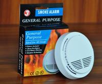 pille çalışan alarmlar toptan satış-9V Pil ile Beyaz Kablosuz Duman Dedektörü Sistemi Yüksek Güvenlik Duyarlı Yangın Alarm Sensörü Ev Güvenlik Tespit için Uygun Kumandalı