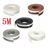 Wholesale Door Window Rubber Seal Strips - 5 Meters 25mm Self Adhesive Draught Excluder Strip Window Door Sealing Tape Adhesive Tape Rubber Weather Strip 5 Colors