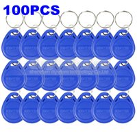 Wholesale 100pcs Khz RFID Proximity ID Card Token Tags Key Keyfobs For Access Control System