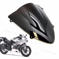 Wholesale Windshield Kawasaki - New Motorcycle ABS Windscreen Windshield for Kawasaki Ninja 250 250R EX250 2008-2012 2009 2010 2011