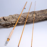 Wholesale Bamboo Fly Fishing Rods - 3 section bamboo looking IM7 carbon fly fishing rod 9' 5# 6#