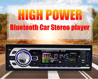 Wholesale 12v Stereo - Bluetooth Car Stereo FM Radio MP3 Audio Player 5V Charger USB SD AUX FLAC Car Electronics Subwoofer In-Dash 1 DIN WMAID3