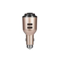 IVLWE 3 in 1 Dual USB Smart Car Charger senza fili Bluetooth 4.1 Auricolare emergenza sicurezza Hammer incorporato microfono per iPhone iPad iPod